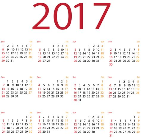 2017 Calendar Png Transparent Clip Art Image Gallery Yopriceville High Quality Images And Transparent Calendar Template