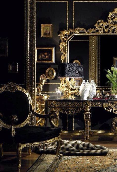 luxury decoration for home bedroom vanity table black gold bedroom decor