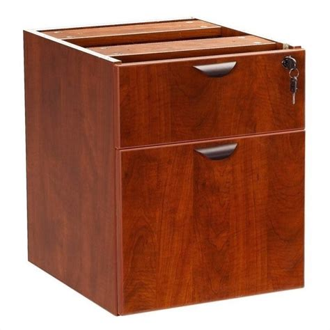 Boss Office Products Lateral Wood Hanging File Cherry Cherry Wood Lateral File Cabinet
