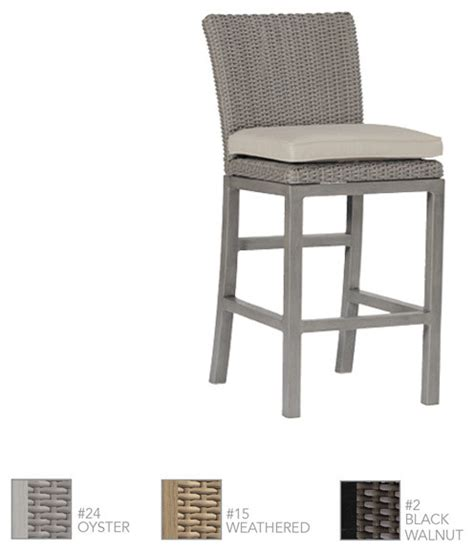 rustic woven resin wicker counter stool by summer classics