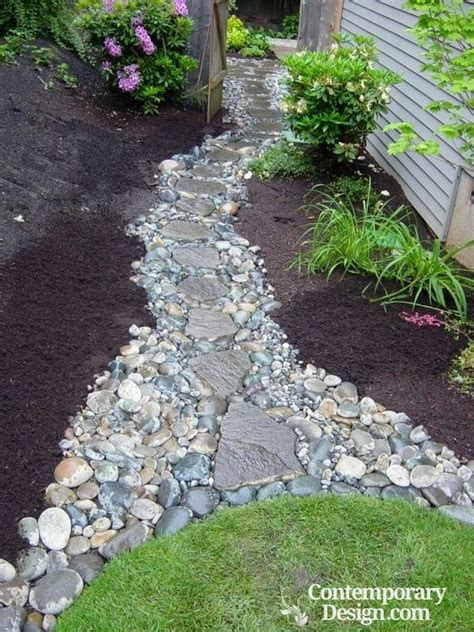 landscaping ideas with mulch and rocks see how to place both materials
