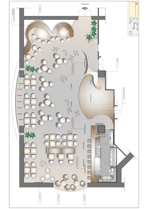 Floorplan Design progetto bar volzhskij 171 oscar dalan design
