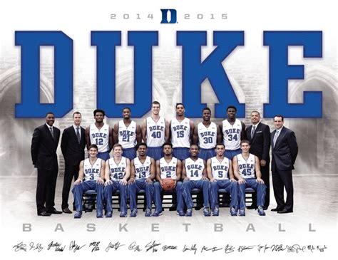 duke basketball team 2015 duke men s basketball roster card 2014 2015 cameron