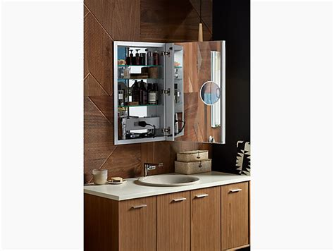 kohler lighted medicine cabinet k 99003 tl verdera 174 lighted medicine cabinet 20 quot w x 30