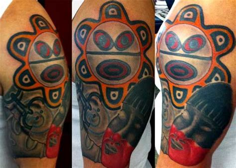 taino tribal tattoos taino sun half sleeves and