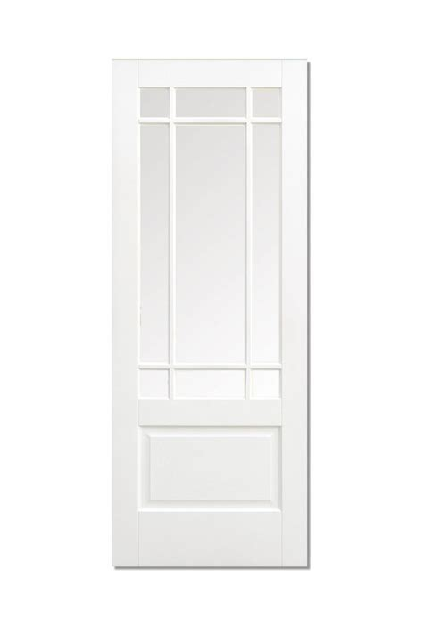 White Glass Panel Interior Doors Solid White Primed Downham Interior Door 9 Clear Glazed Glass Panels Ebay