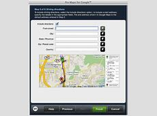 Google map for website | Dreamweaver extension | WebAssist Mapquest Driving Distances Google