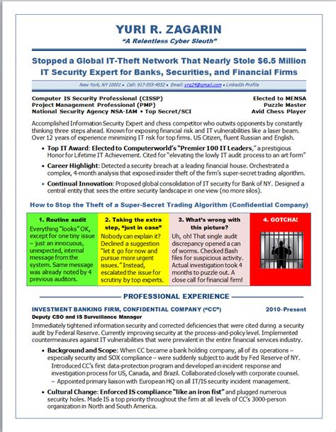 Security Resume Examples And Samples by Illustrated Resume Samples Cyber Security