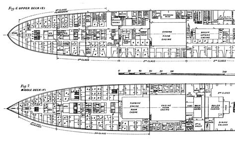 titanic floor plan titanic plans
