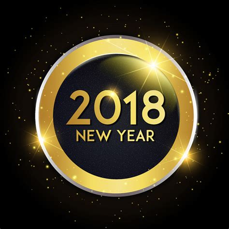 new year 2018 name vector new year 2018 background vector premium
