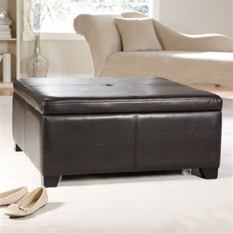 large storage ottoman coffee table large square storage ottoman homesfeed