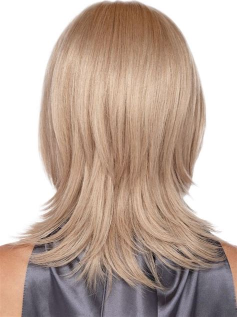 shoulder length hair with layers at bottom layered hair back view google search haircuts