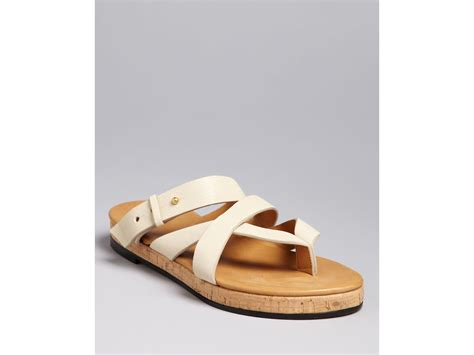 ivory flat sandals chlo 233 criss cross strappy flat sandals in white