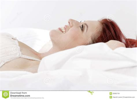 lying in my bed woman in underwear lying on bed stock photos image 30062733