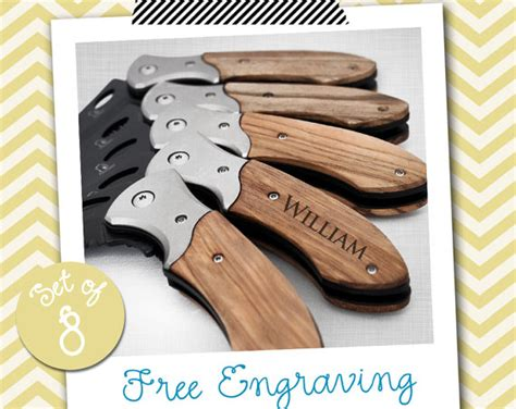 what to engrave on groomsmen gift 8 groomsmen gifts personalized knife engraved knife engraved