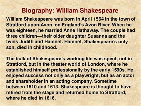 shakespeare biography for students college essays college application essays essay william