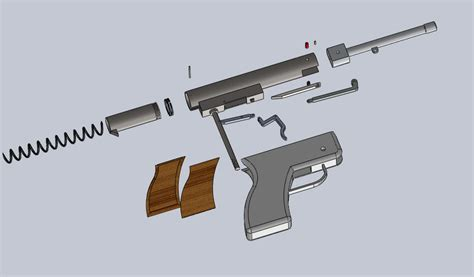 solidworks tutorial gun air pistol solidworks 3d cad model grabcad