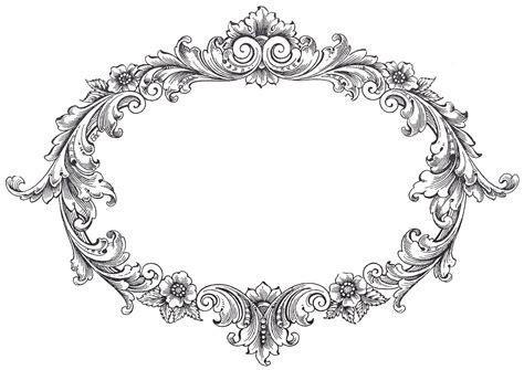 cornici vintage vintage clip fancy oval frame the graphics