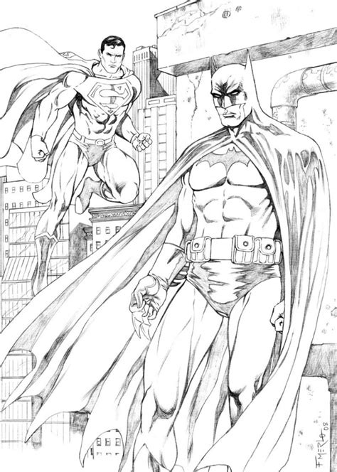 Superman Batman Coloring Pages free printable batman coloring pages for
