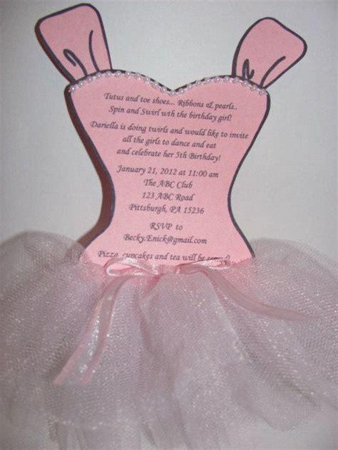 templates for ballerina invitations stella 20 ballerina tutu party invitations by beckyenick