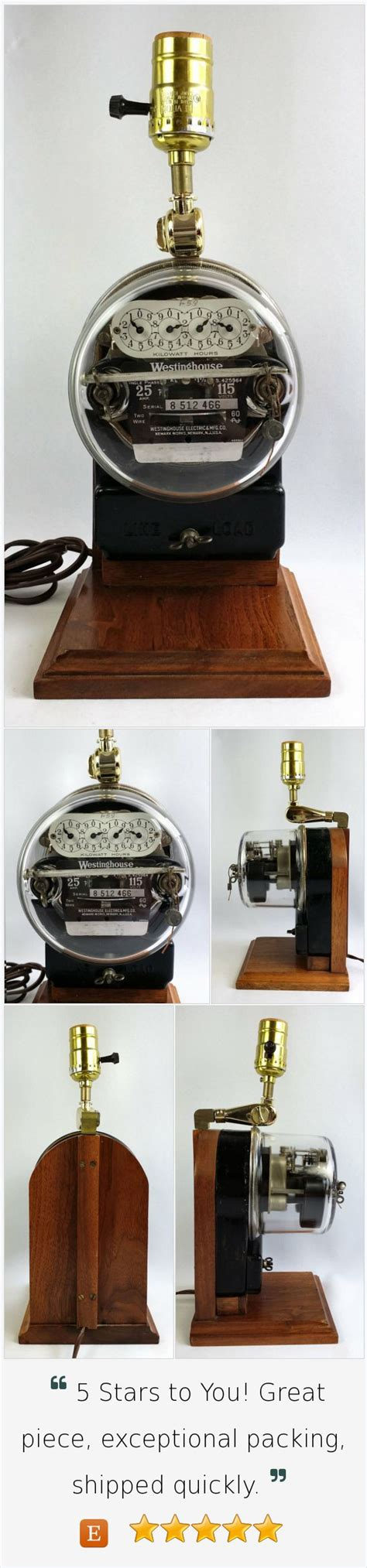 iluminacion westinghouse vintage westinghouse electric meter table l re purposed