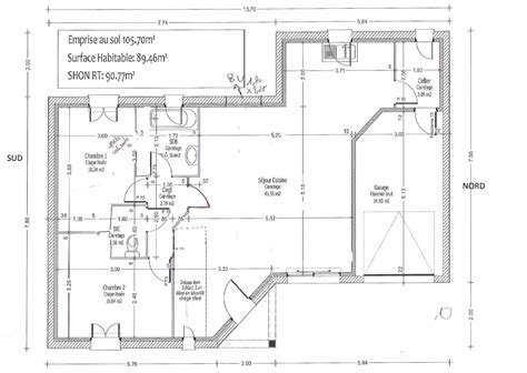 Plan Maison Plein Pied 80m2 maison 80 m2 top maison