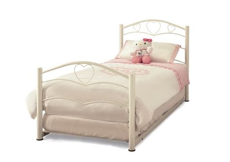 single bed with guest bed serene yasmin 3ft 90cm single white guest bed frame by