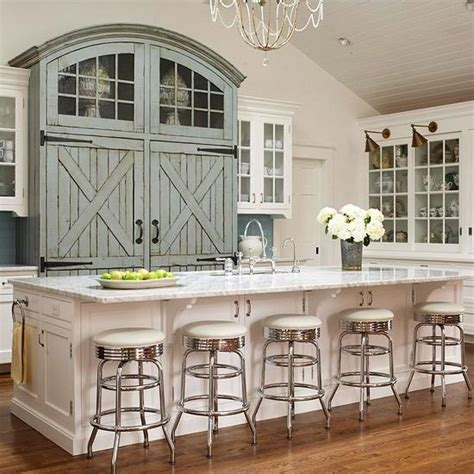 Barn Door Style Cabinets In A Kitchen Kitchens Pinterest Barn Door For Kitchen