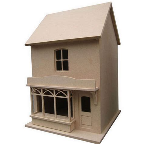 small dolls house small victorian style dolls house shop unpainted kit 1