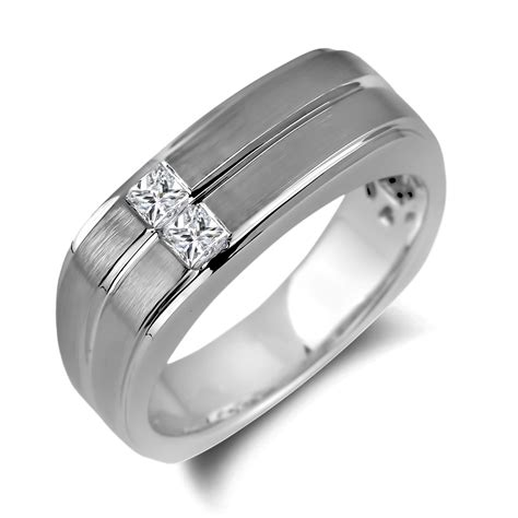 Wedding Rings Square by Square Mens Wedding Rings Wedding Promise