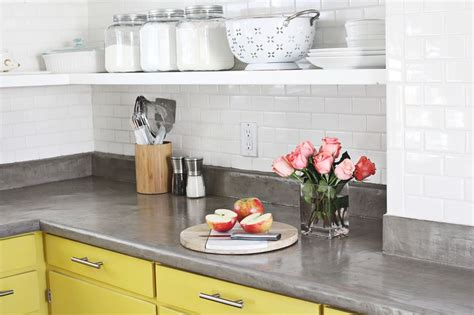 White Cabinets Concrete Countertops by Concrete Countertop Diy A Beautiful Mess