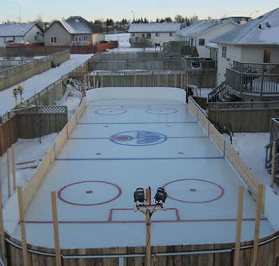building my first backyard ice rink alberta outdoorsmen
