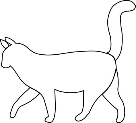 Cat Outline by White Cat Outline Clip At Clker Vector Clip Royalty Free Domain