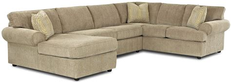 transitional sectional sofa with rolled arms and left