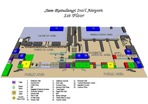 layout bandara ahmad yani sam ratulangi international airport manado