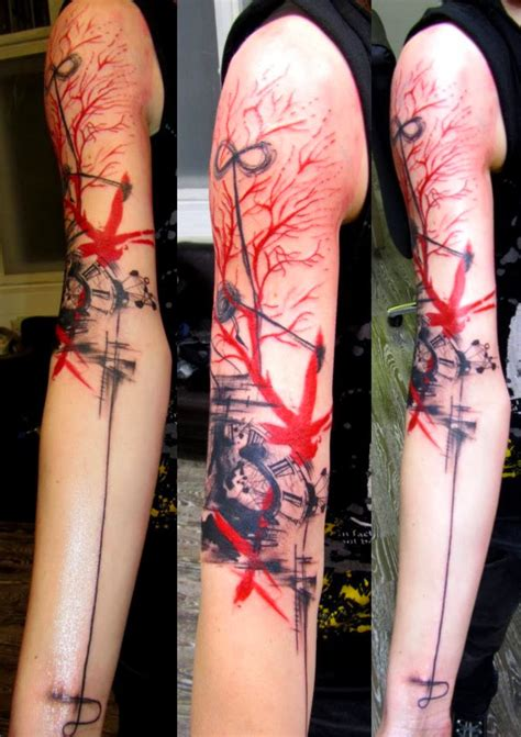 watercolor arm sleeve tattoo abstract tattoos for and abstract