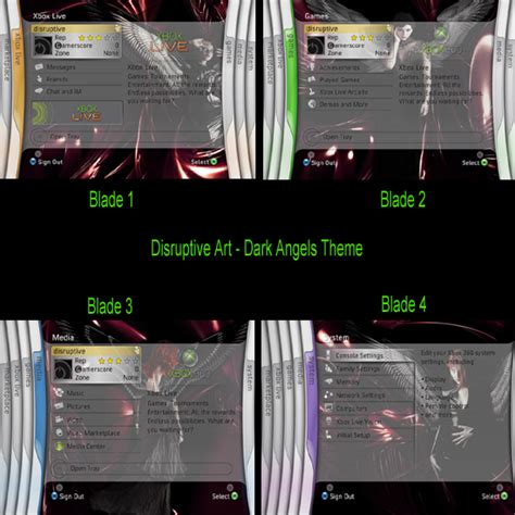 Xbox Live Themes Preview | knightmanproductions com xbox360 themes gamerpics previews