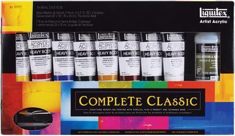 acrylic paint set kmart liquitex heavy acrylic paint set complete classic