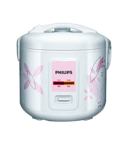 Rice Cooker Philips 1 8 Liter philips 1 8 l hd4729 60 rice cooker white price in india