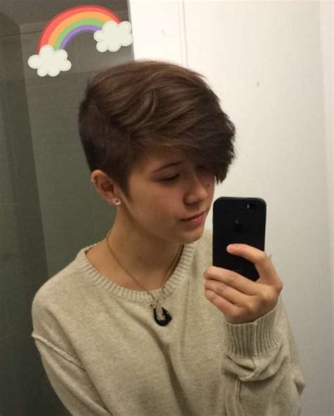 tomboy hairstyle queercuts hair pinterest haircuts short hair and