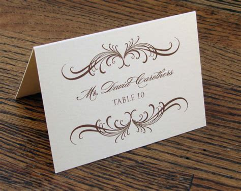 deco table name card template wedding card or groom s name inspirations of