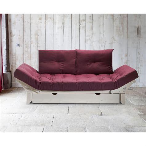 structure futon matelas futon 2 coussins pour structure milo prune