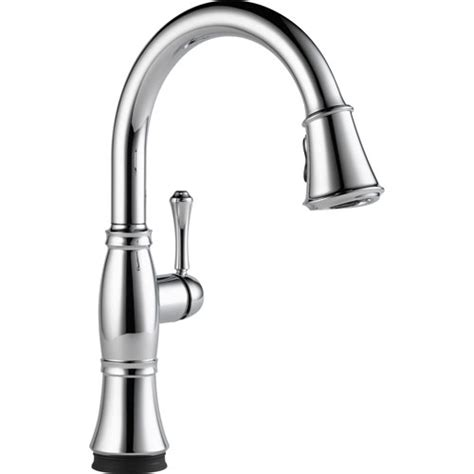 kitchen faucet finishes delta cassidy touch2o chrome finish pull sprayer