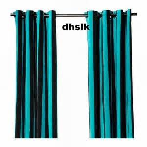 Black And Turquoise Curtains Ikea N 196 Tvide Natvide Curtains Drapes 2 Panels Turquoise