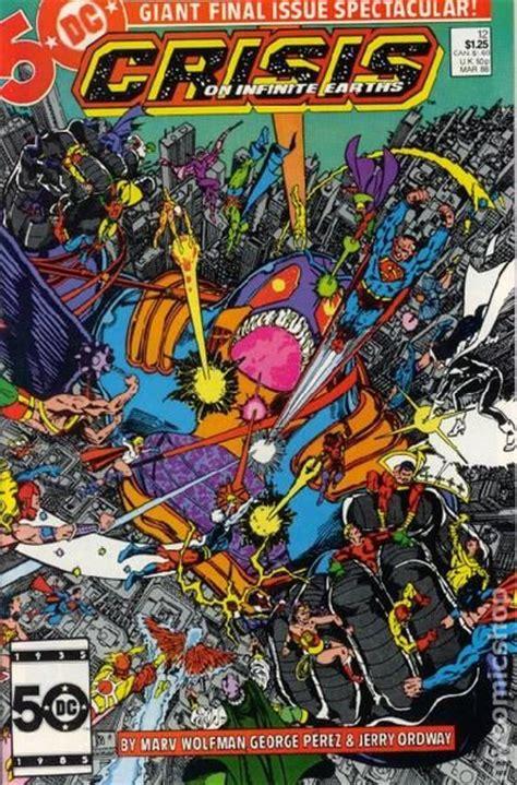 crisis on infinite earths crisis on infinite earths 1985 comic books