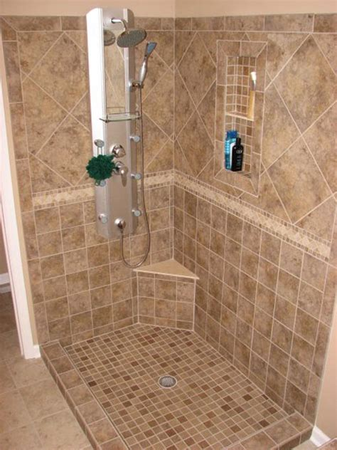 Tiled Shower Ideas For Bathrooms by Tile Bathroom Shower Floor Home Design Ideas
