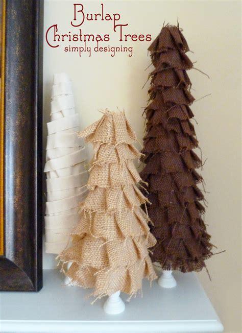 shabby ruffle burlap christmas trees design dazzle