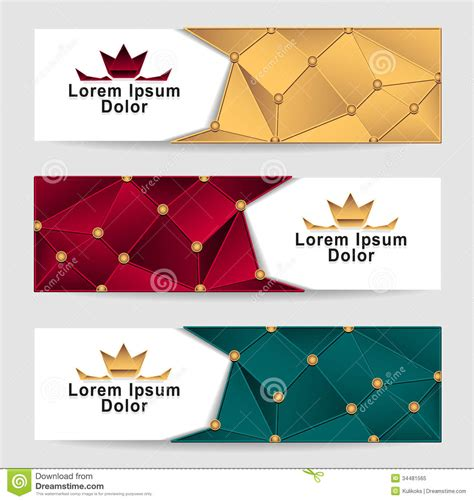 royalty colors set royal triangle banners royalty free stock photo