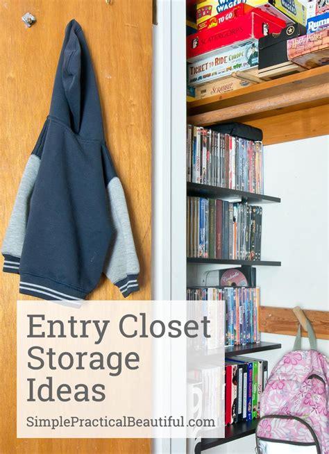 entry closet storage ideas simple practical beautiful
