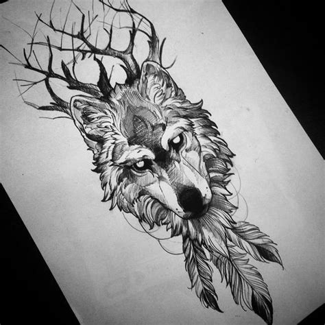 wolf feather tattoo designs r 233 sultats de recherche d images pour 171 wolf drawing
